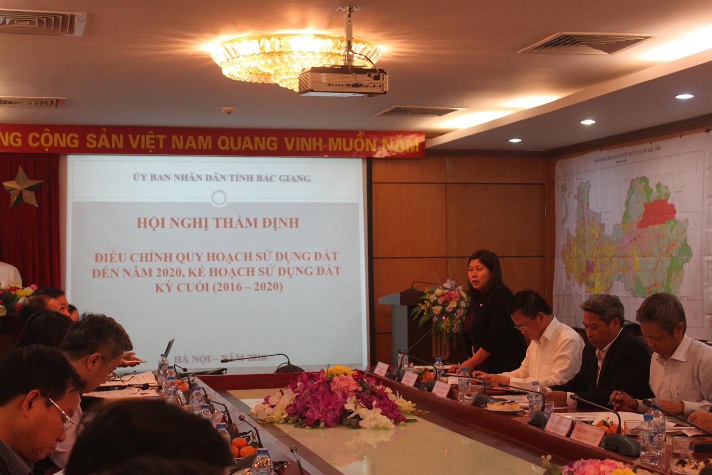 Bộ Tài nguyên và Môi trường tổ chức họp Hội đồng thẩm định điều chỉnh quy hoạch sử dụng đất đến năm 2020 và kế hoạch sử dụng đất 5 năm  kỳ cuối 2016-2020 cấp tỉnh và cho mục đích quốc phòng, an ninh.
