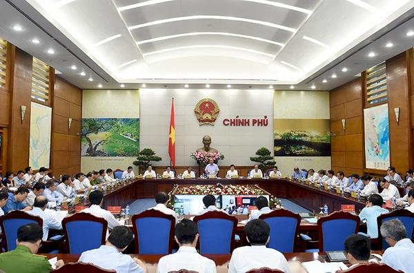 Toàn cảnh Hội nghị trực tuyến của Chính phủ về công tác bảo vệ môi trường ngày 24/8/2016