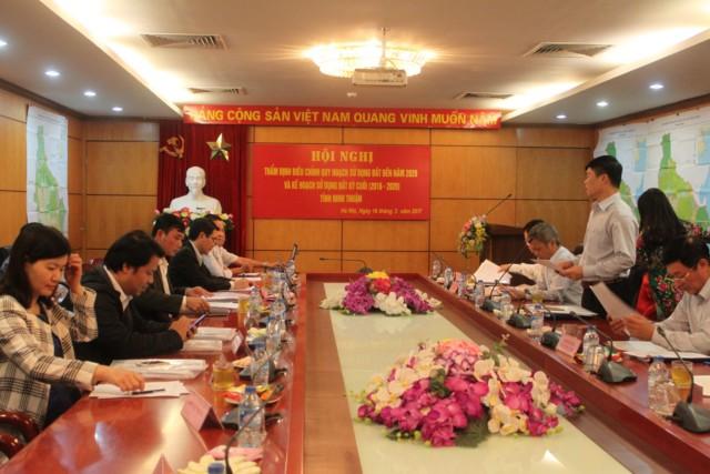 Hội đồng thẩm định điều chỉnh quy hoạch sử dụng đất đến năm 2020 và kế hoạch sử dụng đất 5 năm kỳ cuối 2016-2020 cho tỉnh Ninh Thuận