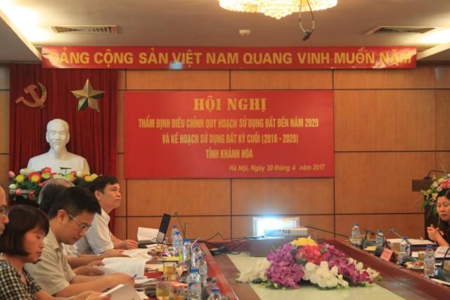 Hội đồng thẩm định điều chỉnh quy hoạch sử dụng đất đến năm 2020 và kế hoạch sử dụng đất 5 năm kỳ cuối 2016-2020 cho tỉnh Khánh Hòa
